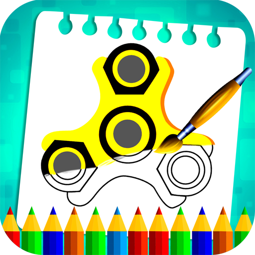 Fidget Spinner Coloring Book