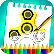 Fidget Spinner Coloring Book Pages