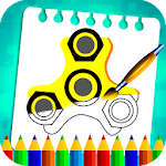 Fidget Spinner Coloring Book Icon