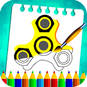 Fidget Spinner Kids Coloring Book Pages
