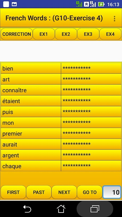 2000 French Words (most used)- screenshot