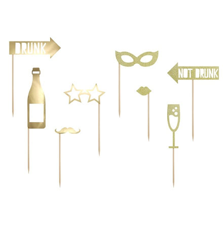 Photobooth-kit - Party guld