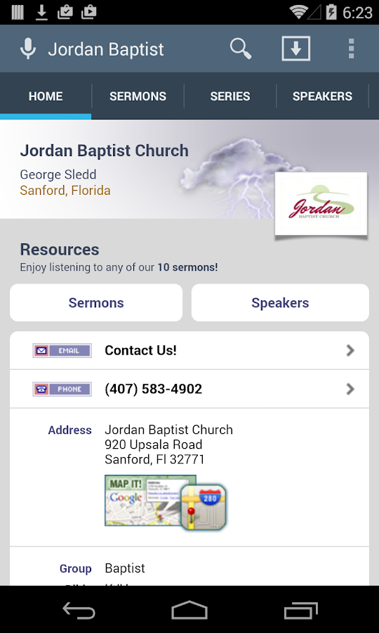 Jordan Baptist Church- screenshot