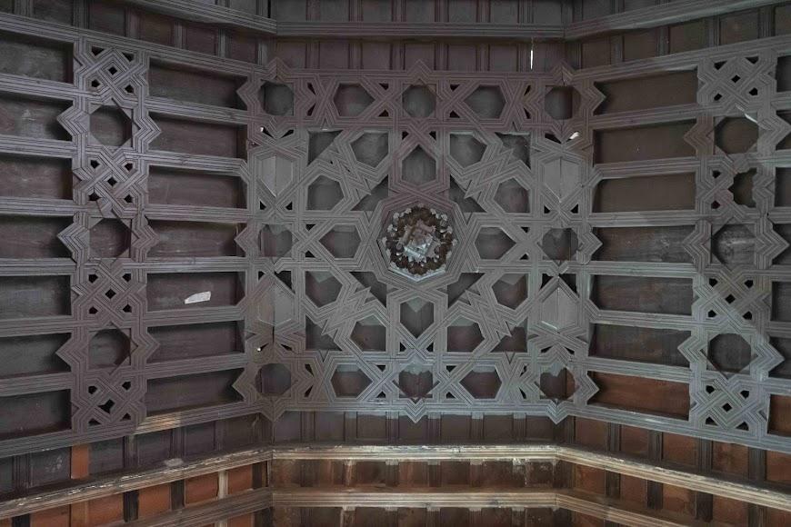Detalle del artesonado mudéjar del Real Hospital de Santa María Magdalena