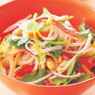Rice Noodle Salad With Wasabi Dressing