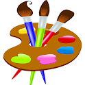 Painting and drawing game icon
