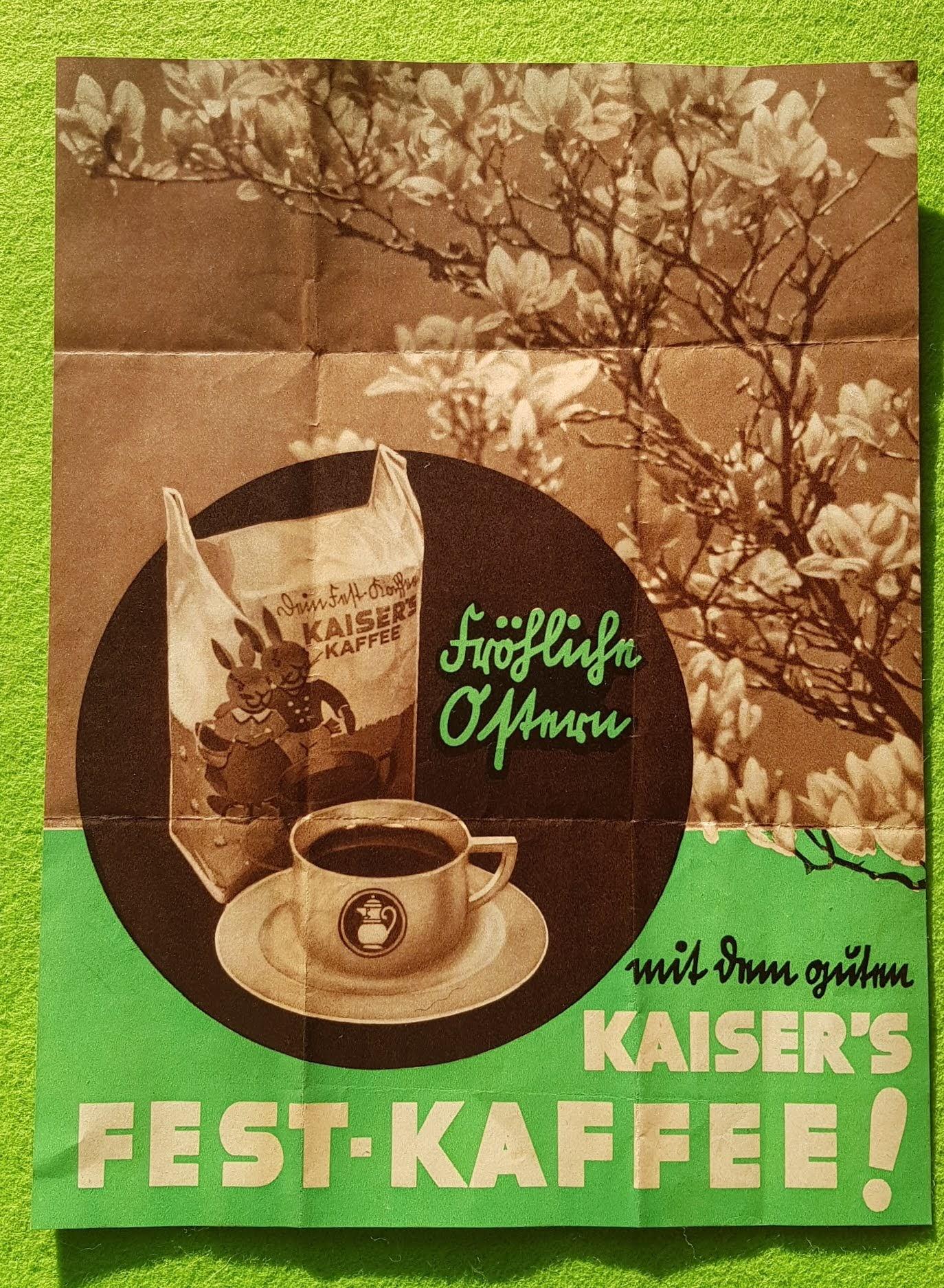 Frohe Ostern - Kaiser's Kaffee - 1935