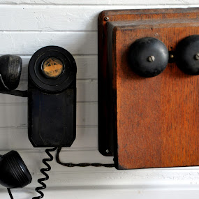 Train Depot Office by Emily Vickers - Artistic Objects Antiques ( bell, phone, communication, train depot, antique )