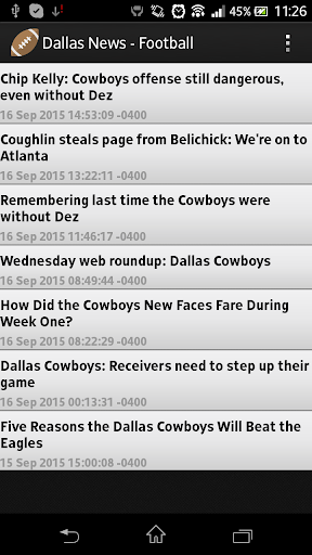 Dallas News - Football
