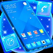 App Glossy Blue Launcher Theme APK for Windows Phone