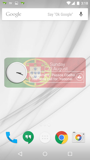 Portugal Clock RSS Widget