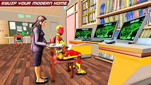 Flying Robot Rope Hero - Vegas Crime City Gangster screenshots 14