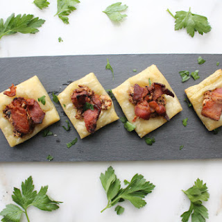 Bacon Fig Goat Cheese Puff Squares