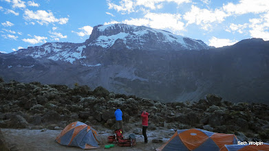 Photo: A frosty Barranco Camp, morning of day 5.