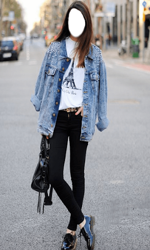 Black Jeans Women Photo Montage for PC