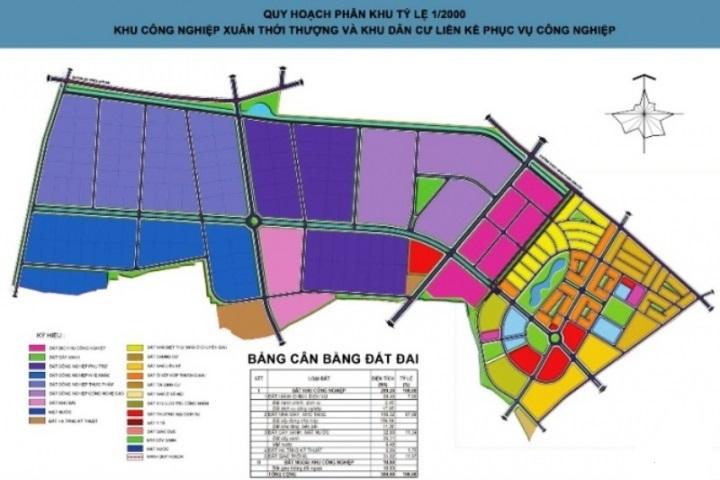 Bản đồ quy hoạch xã Xuân Thới Thượng Hóc Môn