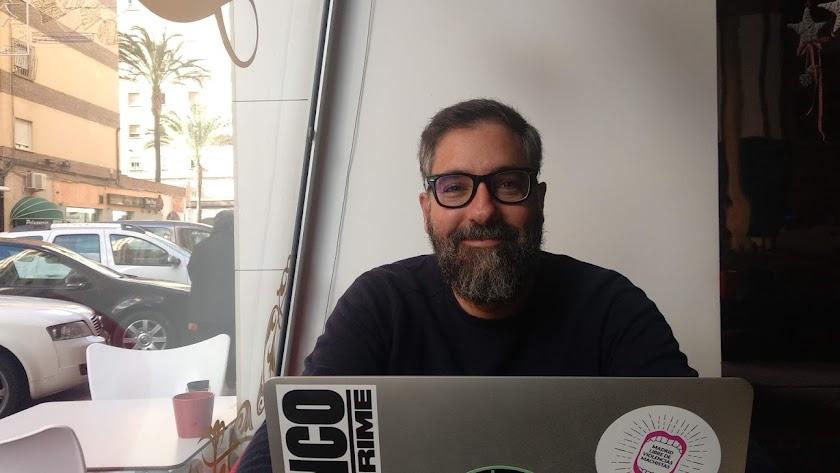 David García, durante la entrevista.
