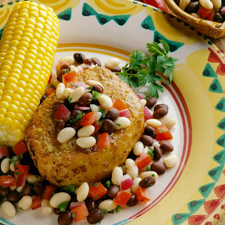 Pork Chops with Black and White Salsa.