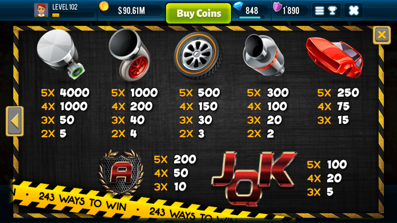 Speed Rush Las Vegas Free Slot- screenshot