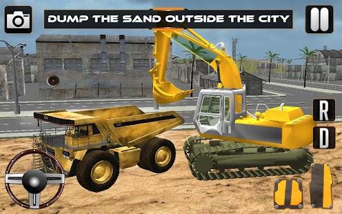Sand-Excavator-Crane-Sim 6