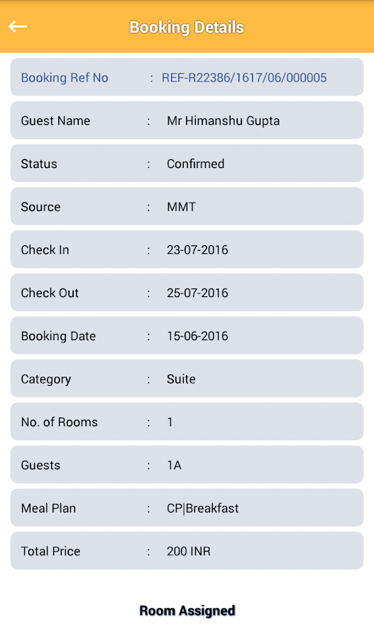 Roomito Hotel App- screenshot