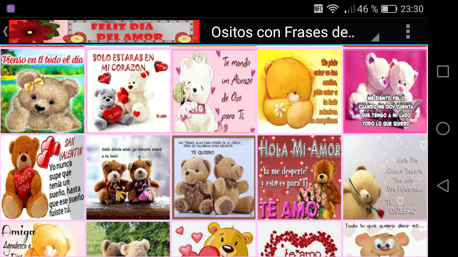 Ositos con Frases de Amor screenshot