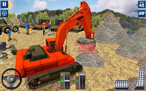 Code Triche lourd excavatrice simulateur 2020: 3d excavatrice APK MOD screenshots 2