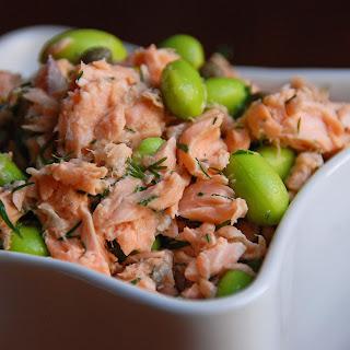 Salmon and Edamame Salad.