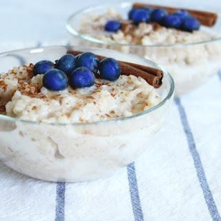 Vegan Coconut Rice Pudding.