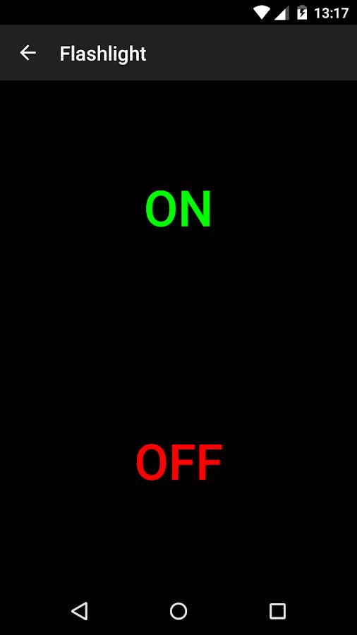 Flashlight - στιγμιότυπο οθόνης