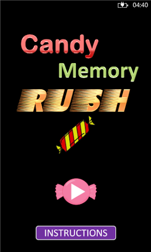 Candy Memory Rush Game