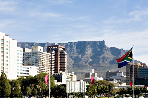 Cape Town city SA flag XXX Picture: THINKSTOCK