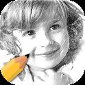 Pencil Sketch With Color Free icon