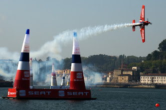 Photo: German Pilot Matthias Dolderer†finished in sixth place in the fifth round of the 2009 Red Bull Air Race World Championship  in Porto, Portugal,  September 13th,  2009.  (Bob Martin/Red Bull Air Race via AP Images). FOR EDITORIAL USE ONLY
