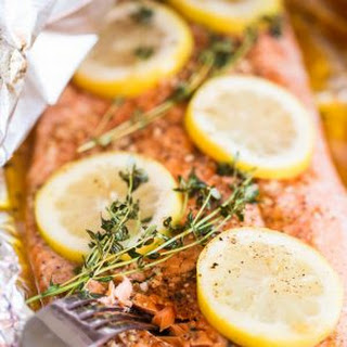 Grilled Cajun Foil-Packet Salmon.