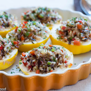Veggie Stuffed Patty Pan Squash.