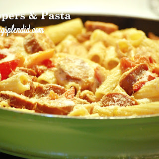 Sausage, 3 Peppers, and Pasta
