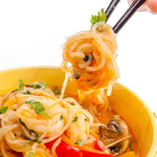 Shrimp Curry Shirataki Noodles.