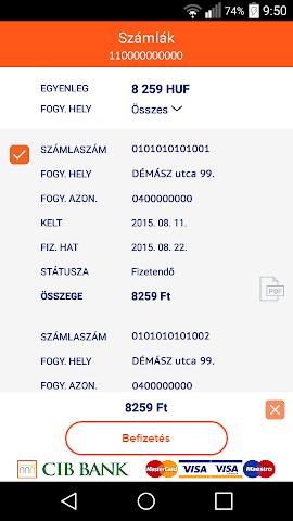 android EDF DÉMÁSZ Ügyfélszolgálat Screenshot 2