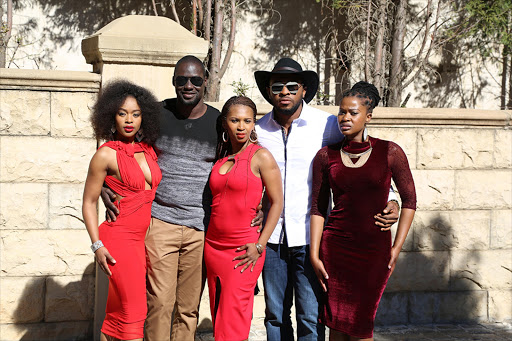 Nomzamo Mbatha, Chris Attoh, Katlego Danke, Enyinna Nwigwe and Angela Sithole in All about Love.