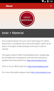 IonicMaterial - Kitchensink screenshot 3