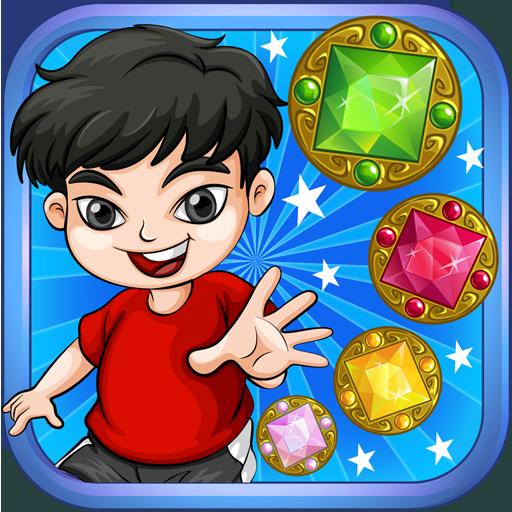 超级宝石闪电战泡泡星 冒險 LOGO-玩APPs