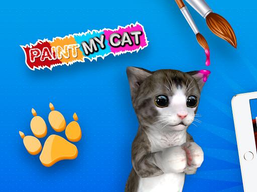 Paint My Cat: 3D Coloring Sandbox screenshot 1