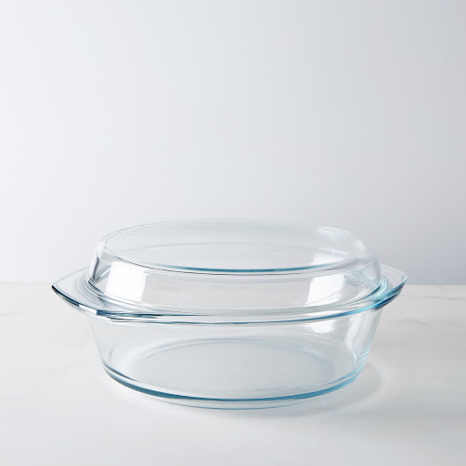 Borosilicate Glass Casserole Dish with Lid, 3.7Qt