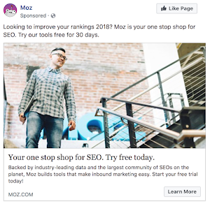 Moz Facebook Ad Example