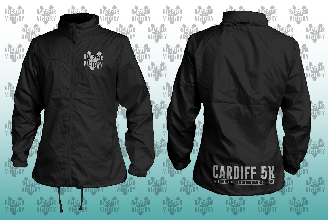 Cardiff 5K - Black Rain Jacket