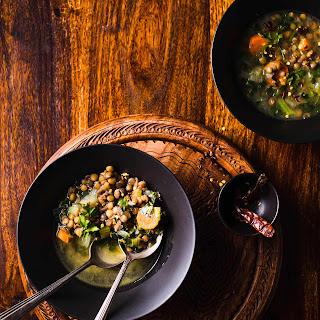 Hearty Lentil & Kale Soup.
