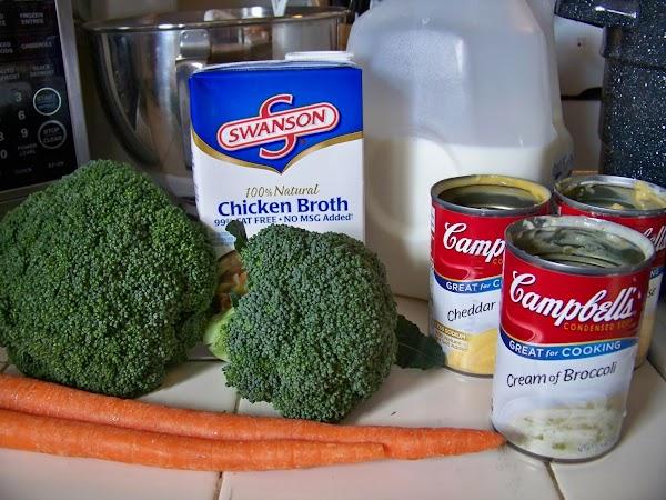 In crock-pot or your favorite soup pot, whisk together soups, milk & broth until...
