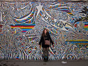 "Photo: ""East Side Gallery"" Berlin Wall, East Side Gallery: Berlin, Germany Megan Gallagher  4th Place, People and Places  Me in front of one of the artworks"