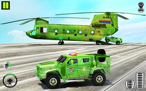 US Army Transporter Plane - Car Transporter Games apktram screenshots 11